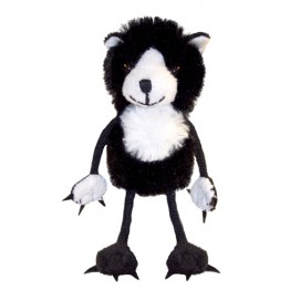 Cat Black and White Finger Puppet