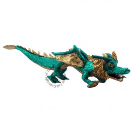 Dragon Hand Puppet - Green & Shiny. Covers Your Arm!