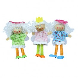 Fairy Finger Puppets - Light Hair - Set of 3