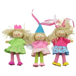 Fairy Finger Puppets - Brown Hair - Set of 3