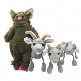 Three Billy Goats Gruff Story Finger Puppet Set