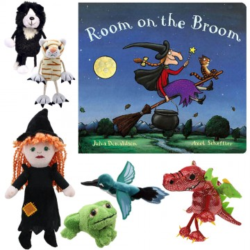 Room on a Broom Book with Puppets