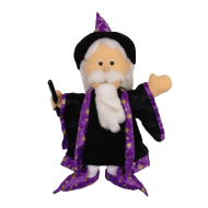 Wizard & Witch Hand Puppets