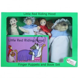 Little Red Riding Hood Finger Puppets & Book Set Boxed