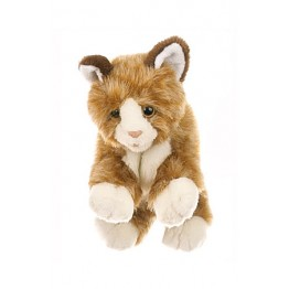 Brown & White Cat Glove Puppet