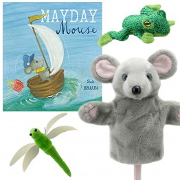 Mayday Mouse Book with Carpet Mouse and Other Puppets