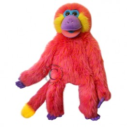 Coral Funky Monkey Hand Puppet