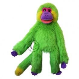 Green Funky Monkey Hand Puppet