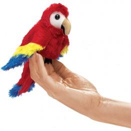 Scarlet Macaw Finger Puppet
