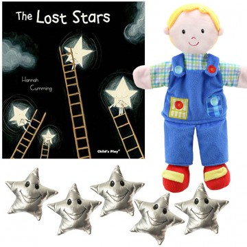 The Lost Stars Book and Twinkle Star finger Puppets