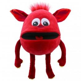 Red -  Baby Monster Hand Puppet