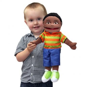 Small Boy Hand Puppet (Dark Skin)