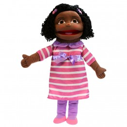 Medium Girl Hand Puppet (Dark Skin)