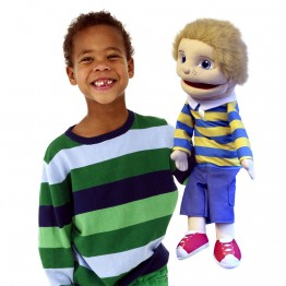 Medium Boy Hand Puppet (Light Skin)