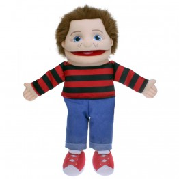People Puppet Buddies: Small Boy (Red/Black Top)