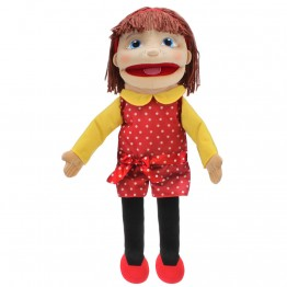 Medium Girl Hand Puppet (Light Skin)