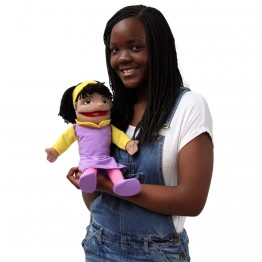 Small Girl Hand Puppet (Olive Skin)