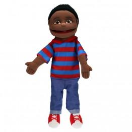 Medium Boy Hand Puppet (Dark Skin)