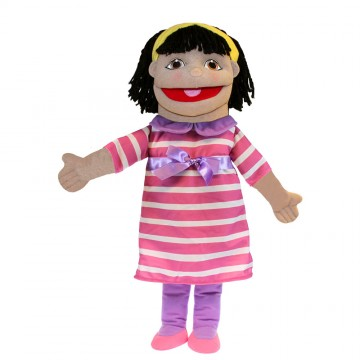 Medium Girl Hand Puppet (Olive Skin)