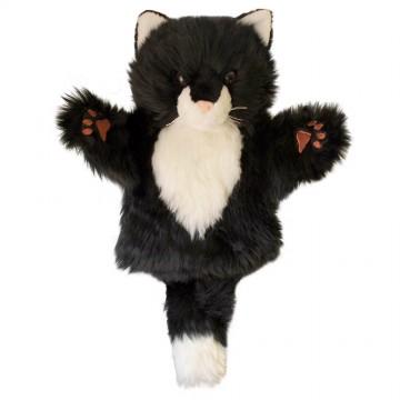 Black & White Cat CarPet Glove Puppet