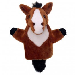 Brown Horse CarPet Glove Puppet