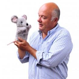 Grey Mouse CarPet Glove Puppet