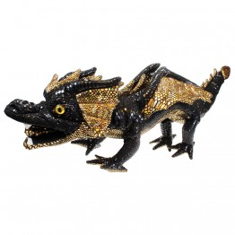 Dragon Hand Puppet - Black & Shiny