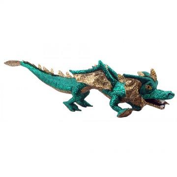 Dragon Hand Puppet - Green & Shiny