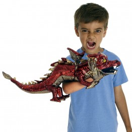 Dragon Hand Puppet - Red & Shiny