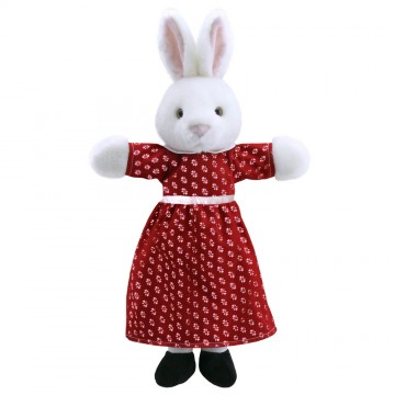 Dressed Animal Puppets: Mrs Rabbit