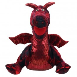 Enchanted Red Dragon Hand Puppet