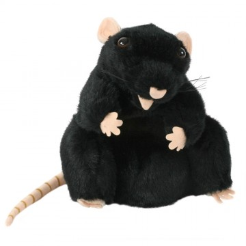 European Black Rat Glove Puppet