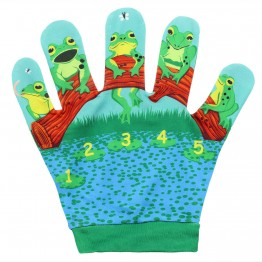 Five Little Speckled Frog Song Mitt