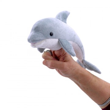 Large Finger Puppet Dolphin