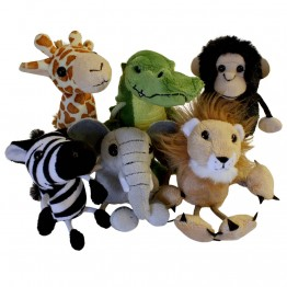 African Animals Finger Puppet Set