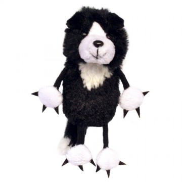 Border Collie Finger Puppet
