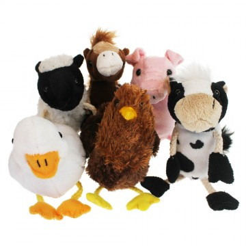 Farm Animals Finger Puppet Set