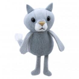 Grey Cat Finger Puppet