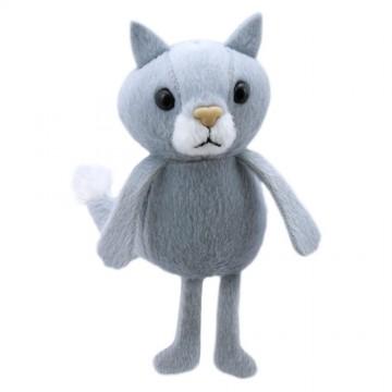 Grey Cat Finger Puppet
