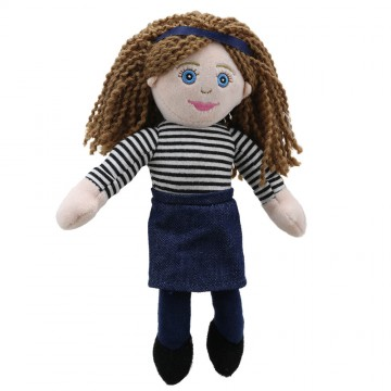 Finger Puppets: Mum (Stripy Outfit)