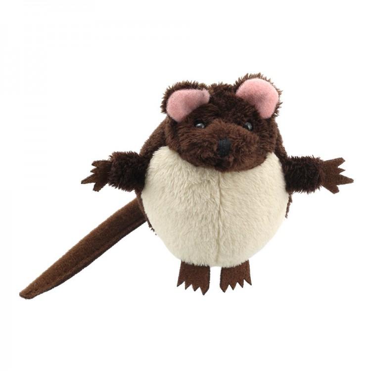 A mouse finger puppet