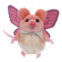 Pink Mouse (With Wings) Finger Puppet