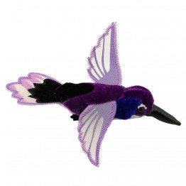 Purple Hummingbird Finger Puppet