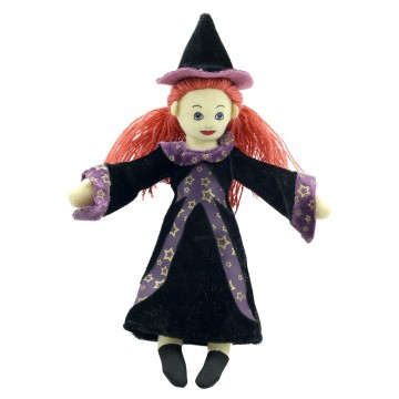 *Witch (White) Finger Puppet