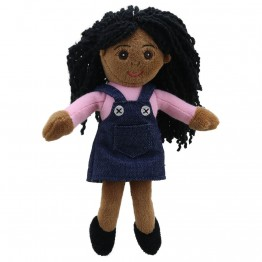 Girl (Dark Skin Tone) Finger Puppet