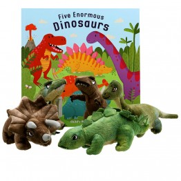 Five Enormous Dinosaurs Book With Puppets