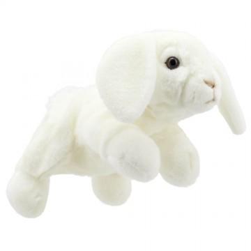 Full-Bodied Animal Puppet: Rabbit (White)