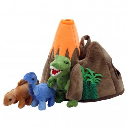 Dinosaur Volcano Finger Puppet Play Set