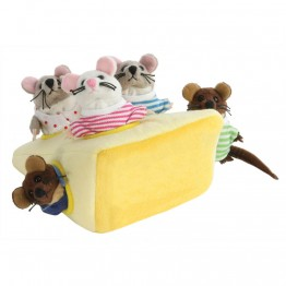 Finger puppet Mice In Cheese Set