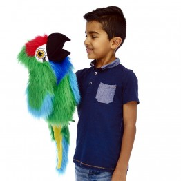 Large Bird - Military Macaw Parrot Hand Puppet